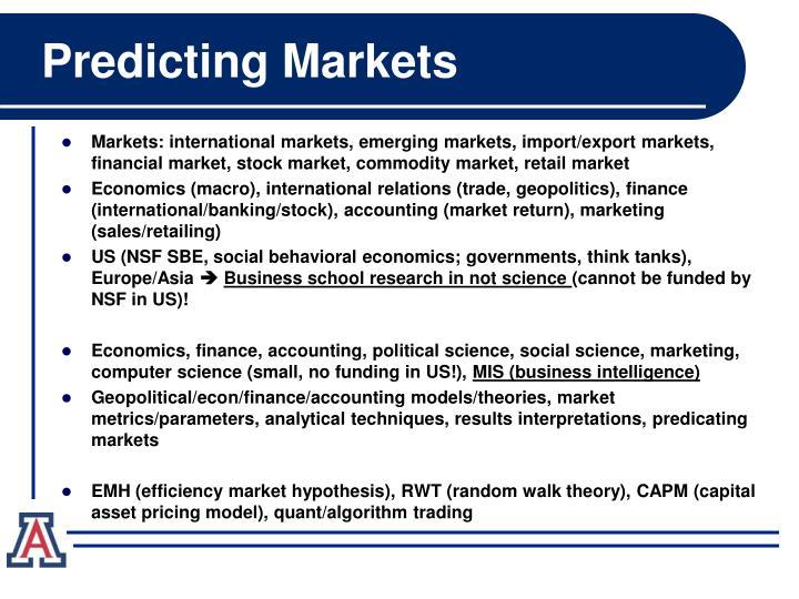 Predicting markets