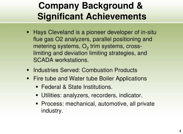 Company Background &