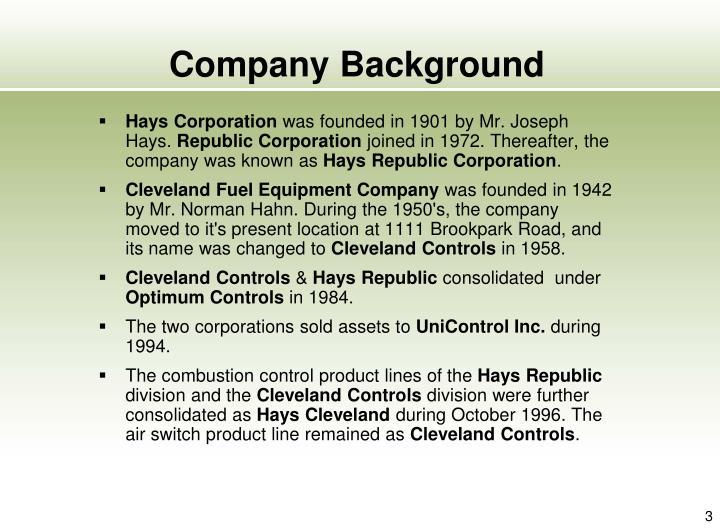Company background1