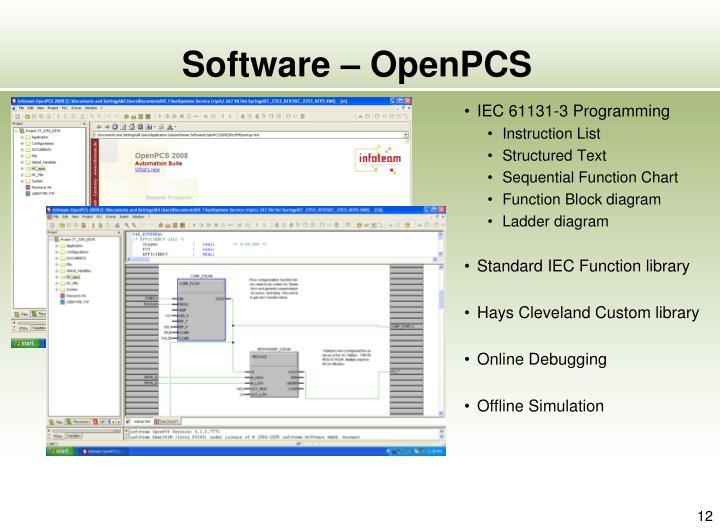 Software – OpenPCS