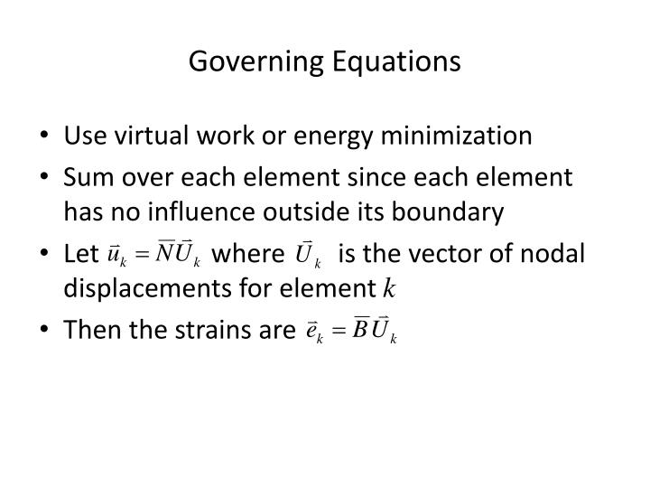 Governing Equations
