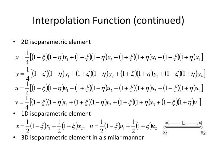 Interpolation Function (continued)
