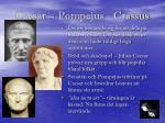 caesar pompejus crassus
