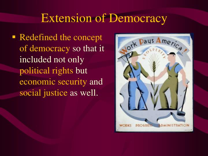 Extension of Democracy