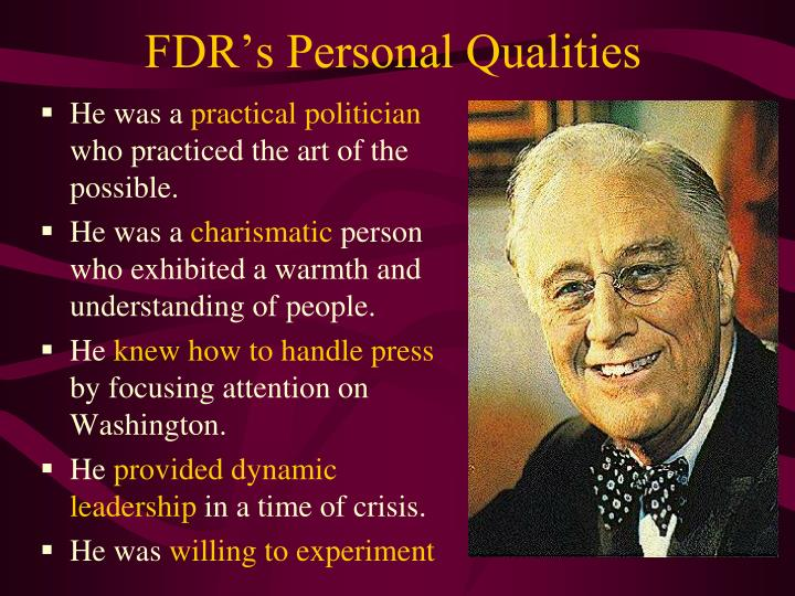 FDR's Personal Qualities