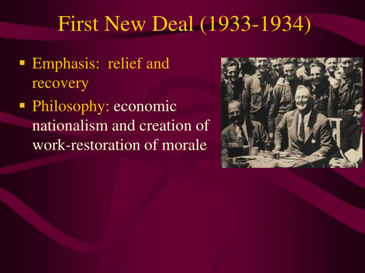 First New Deal (1933-1934)