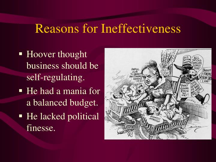 Reasons for Ineffectiveness