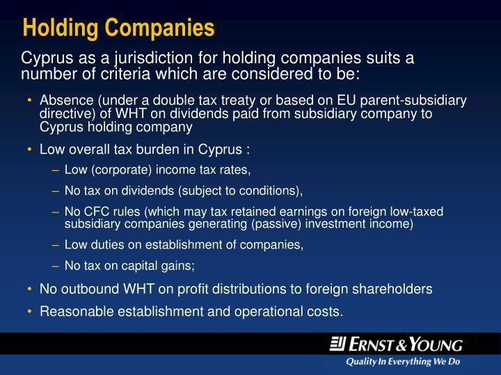 Holding companies1