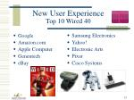 new user experience top 10 wired 40