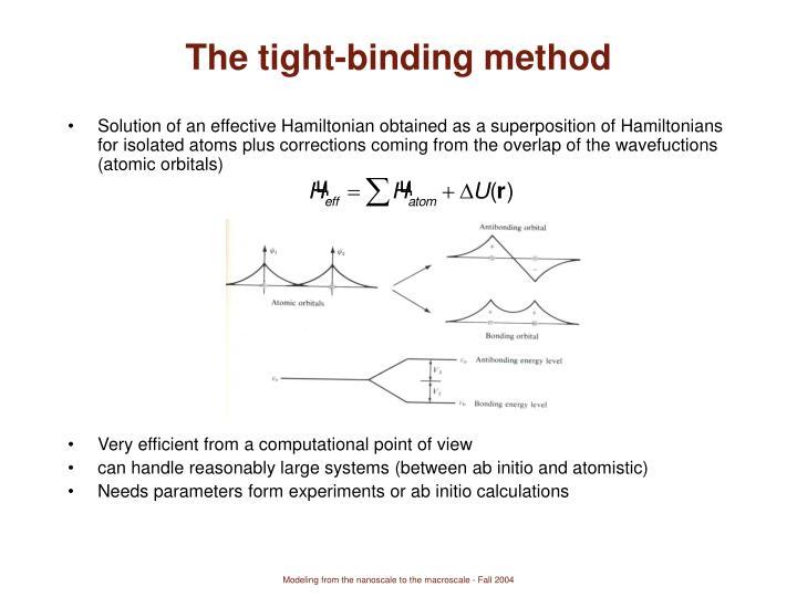 The tight-binding method