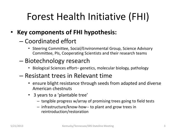 Forest health initiative fhi