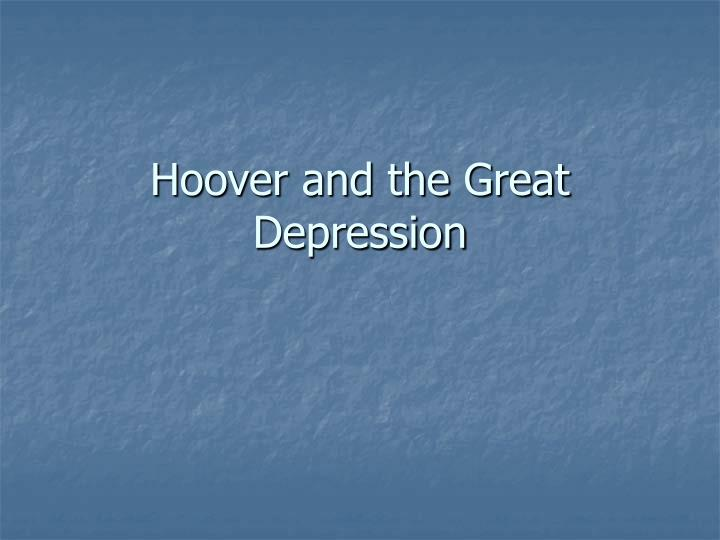 hoover and the great depression n.