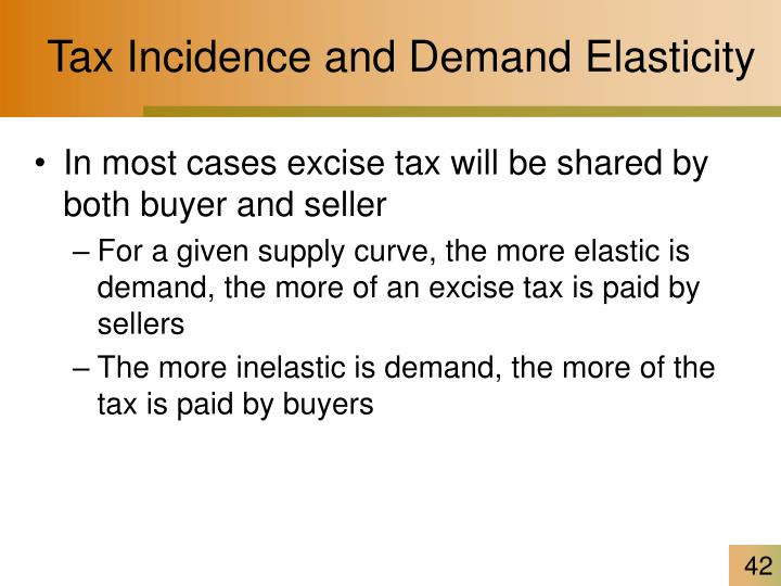 Tax Incidence and Demand Elasticity