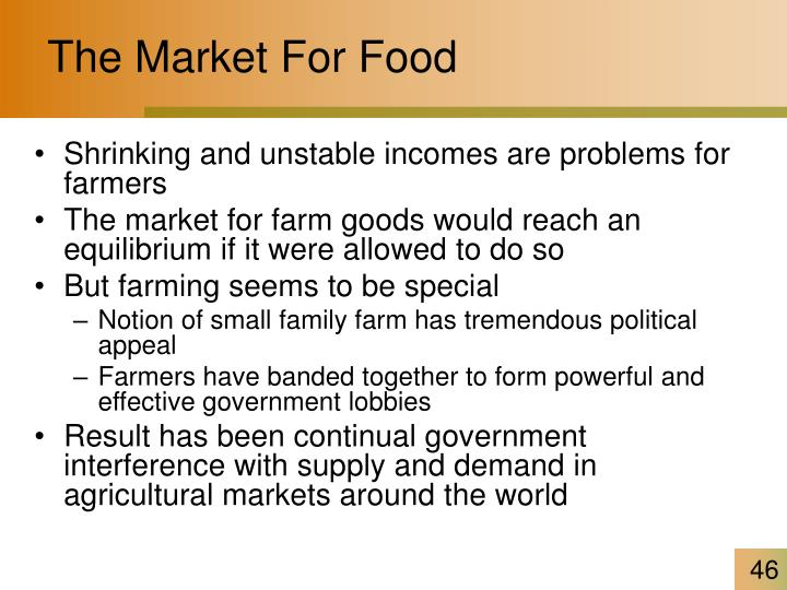 The Market For Food
