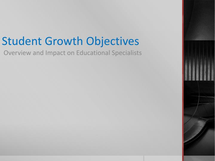 student growth objectives n.