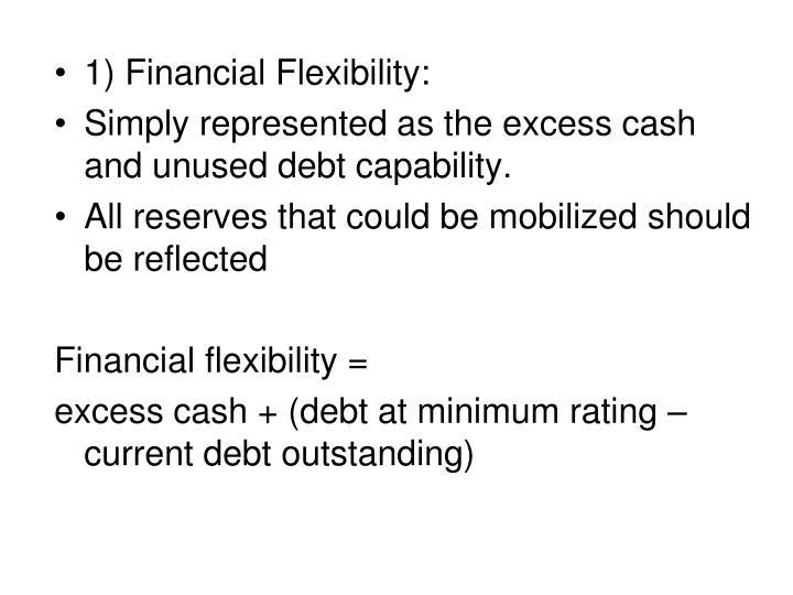 1) Financial Flexibility: