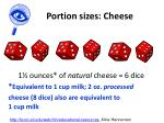 portion sizes cheese