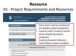 resource 01 project requirements and resources