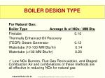 boiler design type5