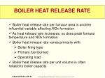 boiler heat release rate