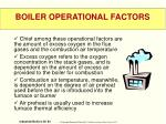 boiler operational factors