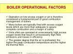 boiler operational factors1