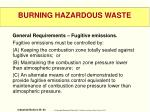 burning hazardous waste1