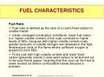 fuel characteristics3
