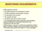 monitoring requirements3