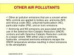 other air pollutants