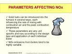 parameters affecting nox1