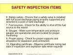 safety inspection items1