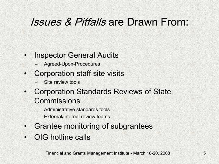 Issues & Pitfalls
