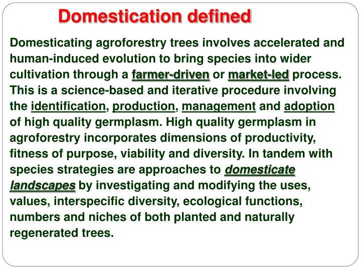 Domestication defined