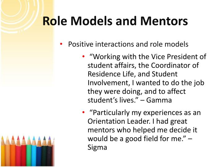 Role Models and Mentors