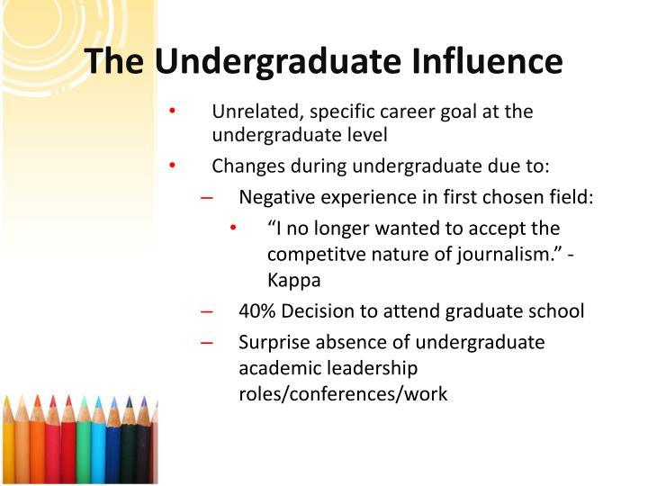 The Undergraduate Influence
