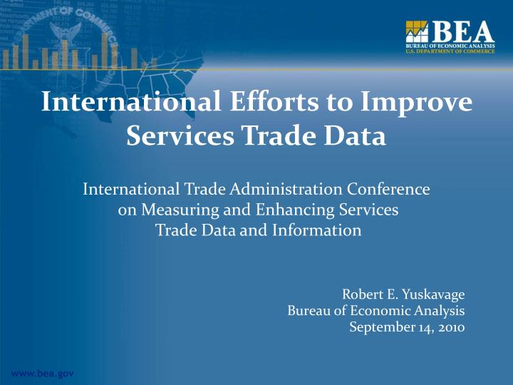 International efforts to improve services trade data