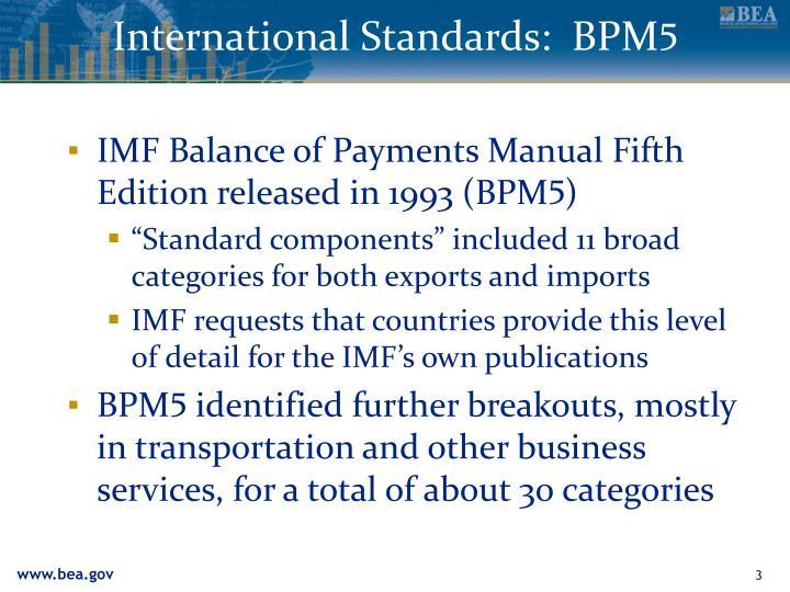 International standards bpm 5