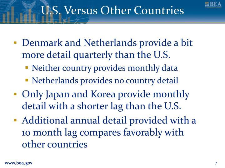 U.S. Versus Other Countries