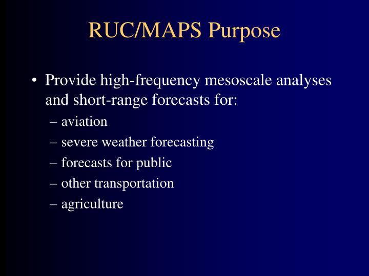 Ruc maps purpose