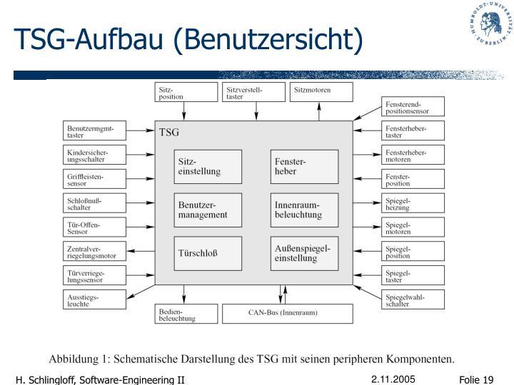 TSG-Aufbau (Benutzersicht)
