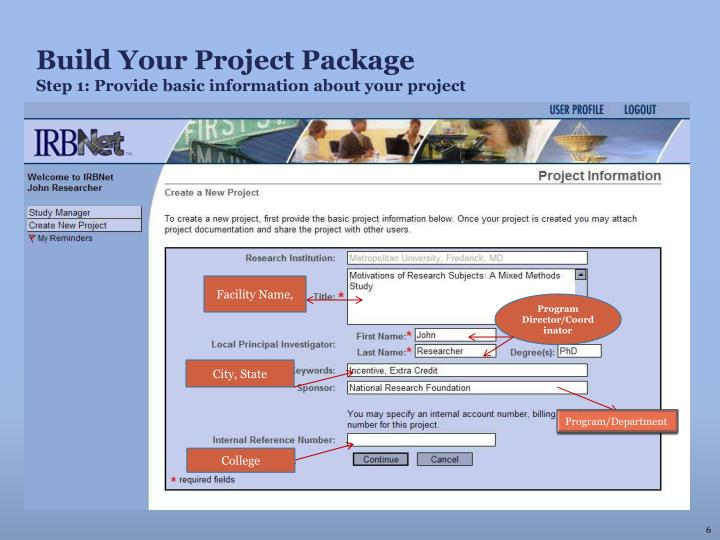Build Your Project Package