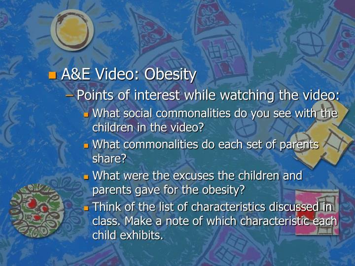 A&E Video: Obesity