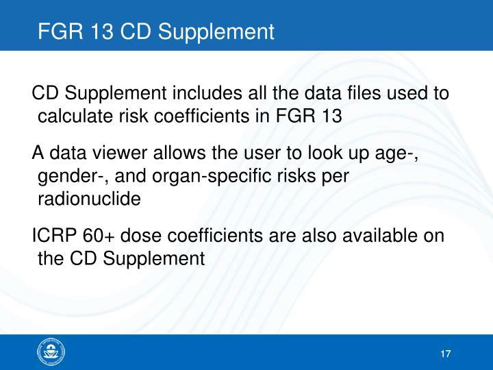 FGR 13 CD Supplement