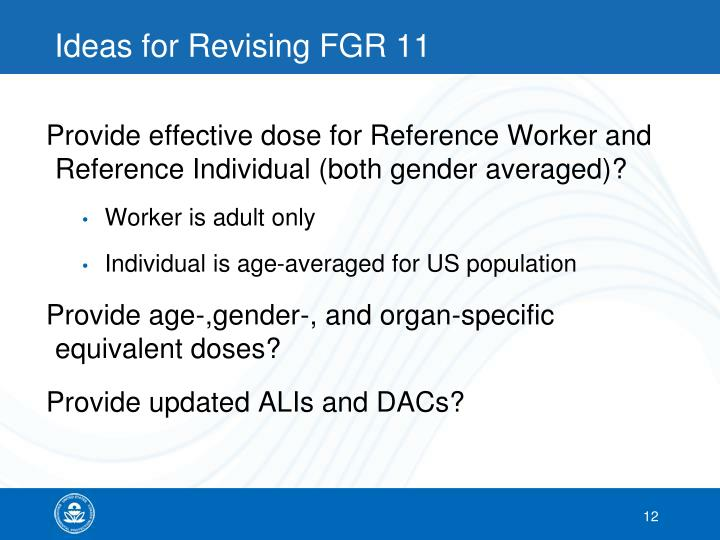 Ideas for Revising FGR 11