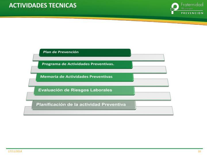 ACTIVIDADES TECNICAS
