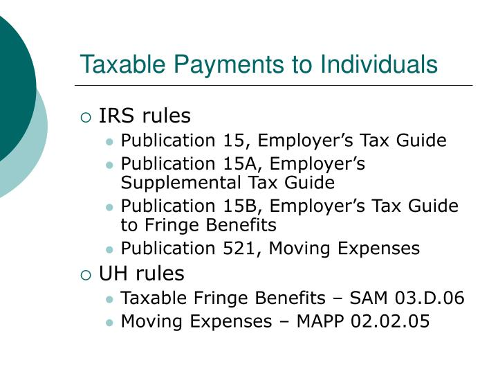 Taxable Payments to Individuals
