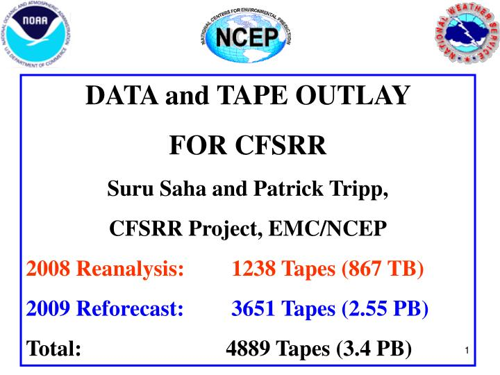 DATA and TAPE OUTLAY