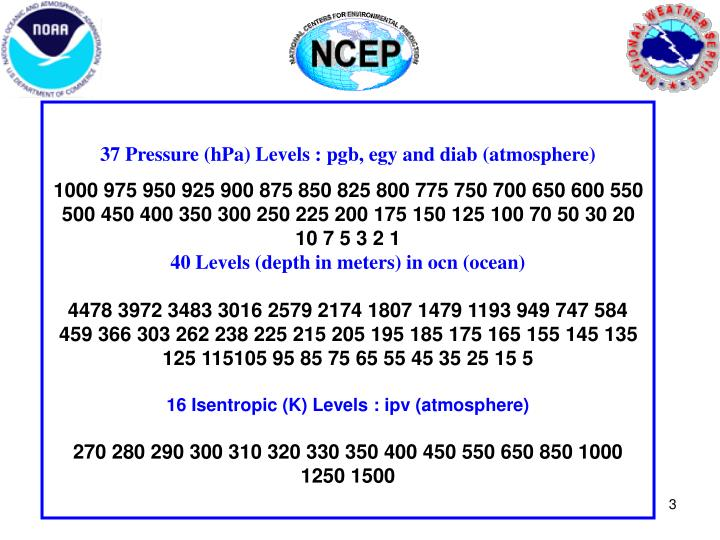 37 Pressure (hPa) Levels : pgb, egy and diab (atmosphere)