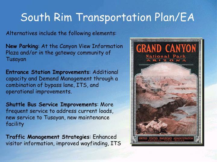South Rim Transportation Plan/EA
